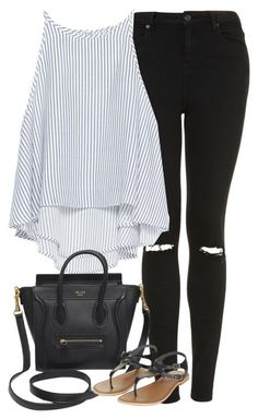 Untitled #1062 by cottxncandy on Polyvore featuring polyvore fashion style Zara Topshop CÉLINE clothing