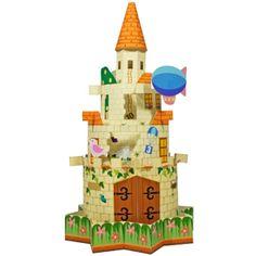 Maqueta 3D de un castillo infantil. Manualidades a Raudales.
