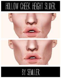 semller: Hollow Cheek Height Slider - used best with ea's cheekbone shape and cheek fullness, M+F