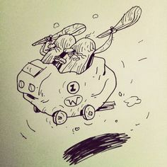 I started with Mad Max' Interceptor, then The Creepy Coupe. Simple Doodles, Mad Max, Creepy, Ink, Cartoon, Drawings, Artist, Artwork, Inspiration