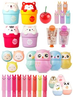 ❤Kawaii Love❤ ~More Korean makeup products designed in cute packaging which could be used as decoration in your bedroom as its so nice women beauty and make up Kawaii Makeup, Cute Makeup, Makeup Style, Etude House, Make Up Marken, Korean Products, Lip Products, Korean Brands, Makeup Package