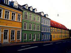 Odense in Denmark. Love the colors.