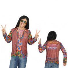 #Disfraz #Camiseta #Hippie #3D para Hombre #Divertida #camiseta en #3D, en tan solo segundos estarás listo para ir de fiesta sin necesidad de comprar accesorios estas camisetas lo llevan todo. En #mercadisfraces tu tienda de #disfraces #online disponemos del mayor stock en #disfraces #originales y #disfraces baratos para tus fiestas.