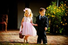flower girl and ring bearer...oh what an entrance.