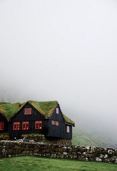 Grass-roof cabin in the Faroe Islands, Denmark. × - Modern and Vintage Cabin Decorating Ideas, Small Cabin Designs, Cabins Interior and Decor Inspiration Oh The Places You'll Go, Places To Travel, Places To Visit, Travel Destinations, Beautiful World, Beautiful Places, Amazing Places, Grande Hotel, Reisen In Europa