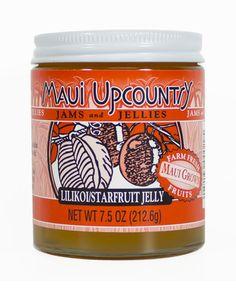 MAUI UPCOUNTRY - LILIKOI STARFRUIT JELLY - 7.5oz