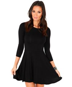 Missguided Poulina Long Sleeve Skater Dress