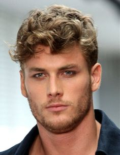 Big beautiful curly style for men