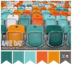 Game Day Color Palette - Inspire Sweetness  http://inspiresweetness.blogspot.com/2013/10/game-day-color-palette.html