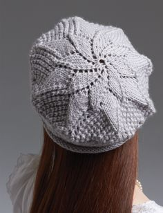 Yarnspirations.com - Patons Lace Beret - Patterns  | Yarnspirations