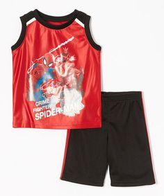 "Children's Apparel Network Swinging ""Spider-Man"" tank & shorts on Zulily."