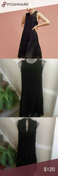 Anthropologie Dress Lace Dropwaist Dress by Floreat from Anthropologie Like New Size 4 Black colorway Anthropologie Dresses