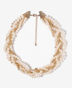 Twisted Rhinestone Necklace | FOREVER 21 - 1000046571