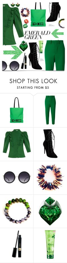 """Emerald City: Pops of Green"" by shop77spark ❤ liked on Polyvore featuring Marni, Vika Gazinskaya, Steve Madden, Alice + Olivia, Thierry Mugler, Alba Botanica, Katerina Makriyianni and emeraldgreen"