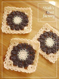 ༺༺ ♥Elles♥Heart♥Loves♥ ༺༺ ............♥Crochet Flowers♥............ #Color #Crochet # Flower #Embellishment #Inspiration #Design #Fibre Art #Applique #Baby #Decorations #Pattern #Vintage #Handmade #Floral ~♥Kokkuri color of flower motif