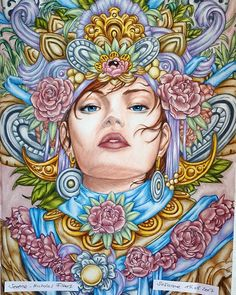 May I Present You My Hypnosis Of This Adorable Coloring Book It Was So Much Fun Hope Like Lady Too Serene