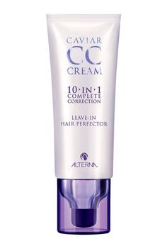 Alterna Caviar CC Cream. 1 Step 10 Benefits Flawless hair. Benefits are Moisture, shine, Smoothness, Softness, UV Protection, Manageability, Strength, Anti-Breakage, Heat Protection and Light Hold