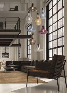 Lámpara colgante de vidrio soplado ROMEO E GIULIETTA by FEDERICOdeMAJO diseño Federico de Majo