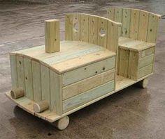 Wooden Playground Vehicles – Locomotive