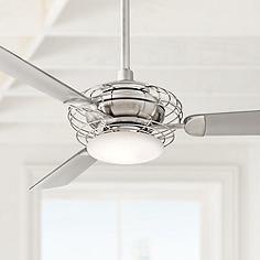"52""  Minka Aire Acero™ Steel and Nickel Ceiling Fan"