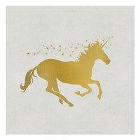 Framed Unicorn Gold 1
