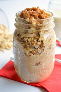 This comforting, snickerdoodle flavored oatmeal is perfect to warm you up in the mornings.