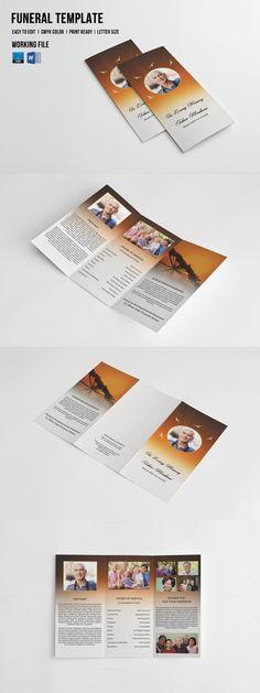 Trifold Brochure Cheerful Evenings Brochure template, Brochures