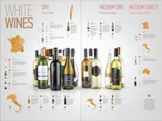 Wine menu | cafe DelVino by Ilya Levit, via Behance