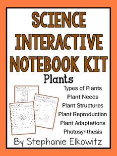Plants Interactive Notebook Kit from Stephanie Elkowitz on TeachersNotebook.com - (66 pages) - Perfect INB activities for your plants unit!