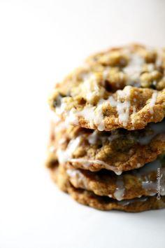 Iced Oatmeal Cookies | ©addapinch.com