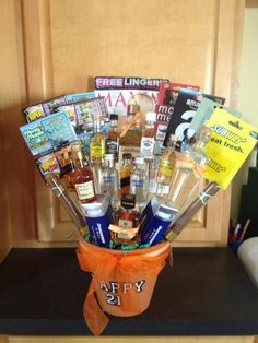 Gift Basket 21st Birthday Gifts 22nd Diy Ideas Happy
