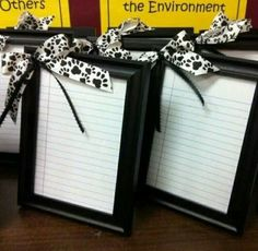 Frame notebook paper- dry erase to do list