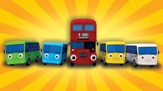 Ten Little Buses | From Wheels On The Bus | Nursery Rhymes | by LittleBa...