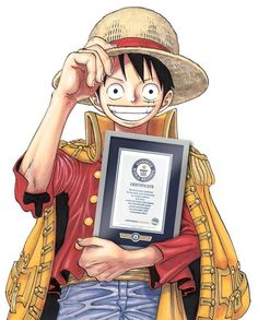 Congrats to Eiichiro Oda & One Piece for entering Guinness World Records (The most copies published for the same comic book series by a single author - 320,866,000 copies by December 2014)