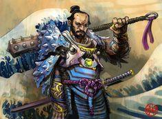 Asian fantasy art Legend of the Five Rings Art Fantasy Weapons, Fantasy Warrior, Fantasy Art, Warrior Angel, Dark Fantasy, Fantasy Character Design, Character Art, Cyberpunk, Oriental