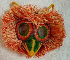Wounaan Embera Chunga Mask Owl-Panama 16073020L