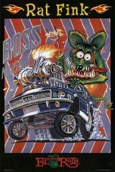 RAT FINK POSTER Boss Mustang RARE HOT NEW 24X36