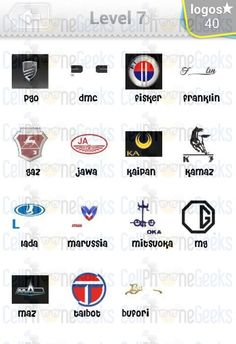 Logo Quiz Cars Answers Level 5 Car Logo Pinterest Car Logos