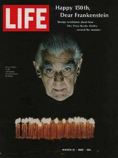 "Boris Karloff ~ Life Magazine ~ March 15, 1968 issue ~ Click image or visit oldlifemagazines.com to purchase. Enter ""pinterest"" at checkout for a 12% discount."