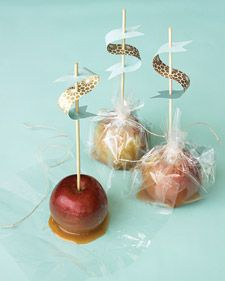 caramel apple favor/place cards