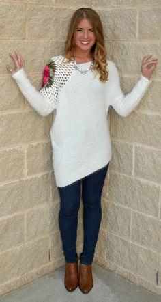 Cream Compass Rose Sweater $47.99
