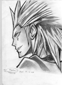 kingdom hearts axel drawing