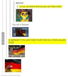 """The sentence would be: """"In Deutschland kann man in Essen Essen essen."""""""