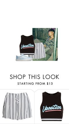 """heartbreak hotel."" by bobs-xo ❤ liked on Polyvore featuring WithChic, New Look and Vans"