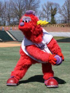 Bolt, Winston-Salem Dash mascot; Class A-Advanced Carolina League.