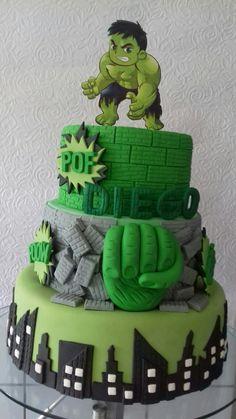 Hulk cake Hulk Birthday Cakes, Hulk Birthday Parties, Boys First Birthday Party Ideas, Lego Hulk, Hulk Hulk, Hulk Comic, Hulk Avengers, Hulk Marvel, Torta Paw Patrol