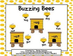 Short u Buzzing Bees CVC word sort for Small Group/Centers - Use this FREE center in your Kindergarten or 1st grade classroom. They are easy to make and store! This activity is a short u word sort with CVC patterns. It has students working with words with the vowel patterns of -ut, -un, -ug. Students can work on the activity during center time or during a small group. An activity paper is also included. FREE