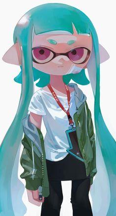Love the coloring Splatoon Squid, Nintendo Splatoon, Splatoon 2 Art, Splatoon Comics, Viewtiful Joe, Character Art, Character Design, Pokemon, Fanart