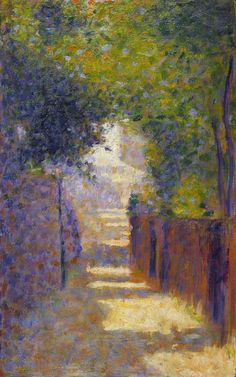 The Rue St. Vincent, Paris, in Spring  Seurat, Georges Pierre; painter; French artist, 1859-1891  circa 1884