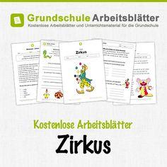 Kostenlose Arbeitsblätter und Unterrichtsmaterial zum Thema Zirkus in der Grundschule.